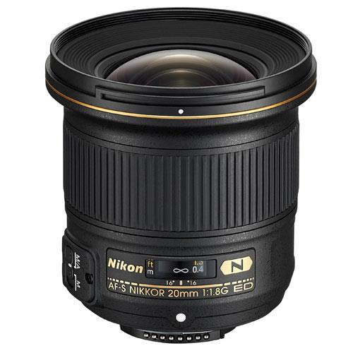 20mm f/1.8G ED Lens Product Image (Primary)