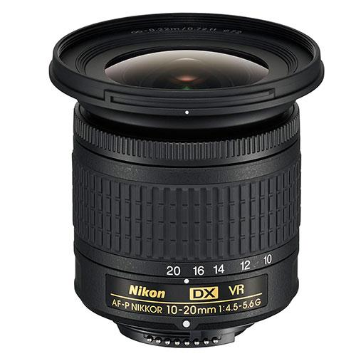 AF-P DX NIKKOR 10-20mm f/4.5-5.6G VR Lens Product Image (Primary)