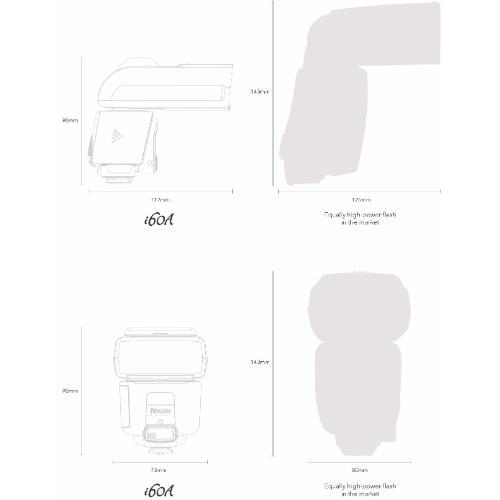 Nissin i60A Flashgun - Sony Product Image (Secondary Image 3)