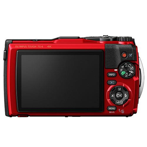 Tough TG-6 Digital Camera in Red Product Image (Secondary Image 1)