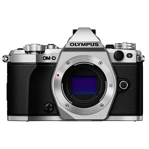 OM-D E-M5 Mark II Compact System Camera Body in Silver Product Image (Primary)
