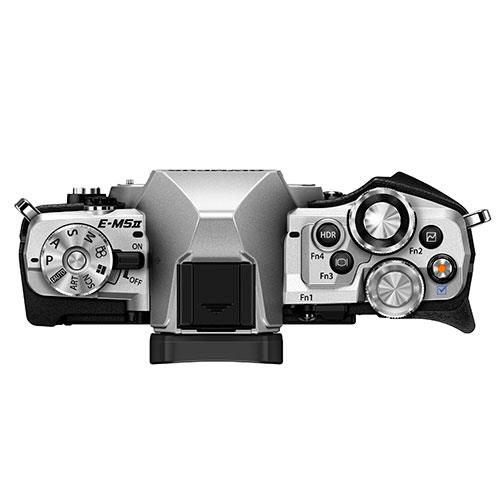 OM-D E-M5 Mark II Compact System Camera Body in Silver Product Image (Secondary Image 1)