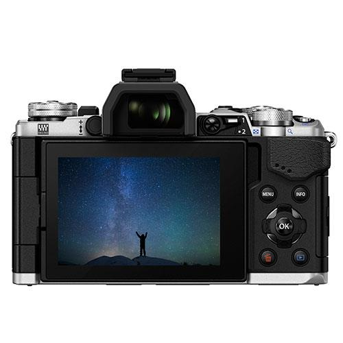 OM-D E-M5 Mark II Compact System Camera Body in Silver Product Image (Secondary Image 2)