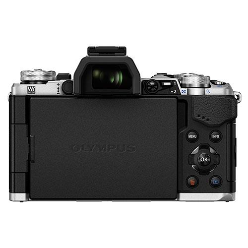 OM-D E-M5 Mark II Compact System Camera Body in Silver Product Image (Secondary Image 4)