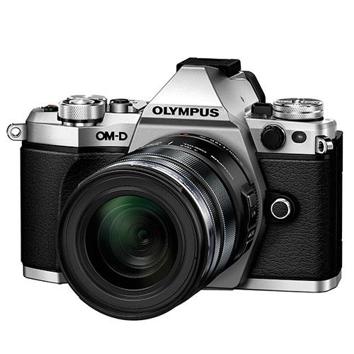 OM-D E-M5 Mark II Compact System Camera in Silver + 12-50mm Lens Product Image (Primary)