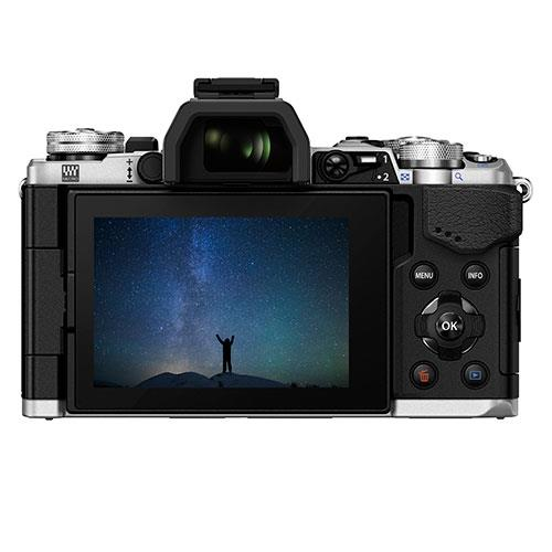 OM-D E-M5 Mark II Compact System Camera in Silver + 12-50mm Lens Product Image (Secondary Image 1)