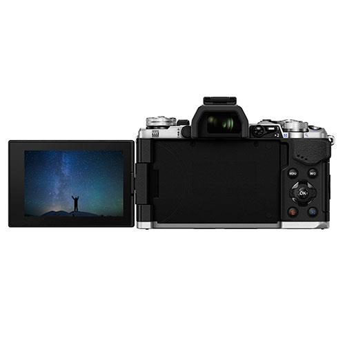 OM-D E-M5 Mark II Compact System Camera in Silver + 12-50mm Lens Product Image (Secondary Image 2)