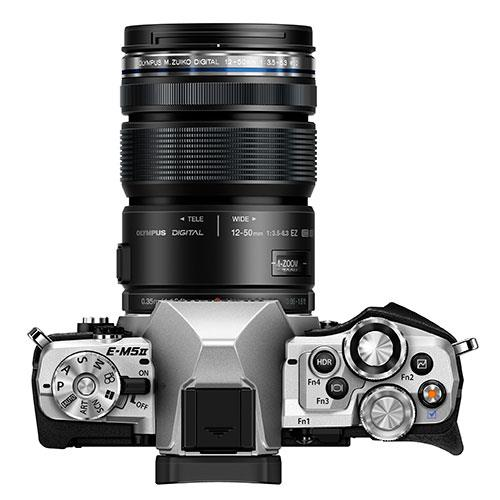 OM-D E-M5 Mark II Compact System Camera in Silver + 12-50mm Lens Product Image (Secondary Image 3)