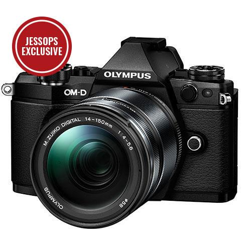 OM-D E-M5 Mark II Compact System Camera in Black with 14-150mm Lens Product Image (Primary)