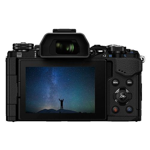 OM-D E-M5 Mark II Compact System Camera in Black + 14-150mm Lens Product Image (Secondary Image 1)