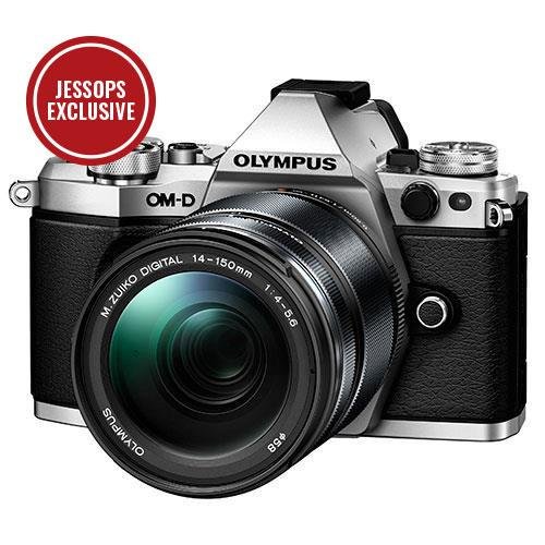 OM-D E-M5 Mark II Compact System Camera in Silver with 14-150mm Lens Product Image (Primary)