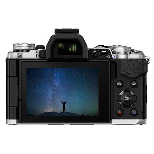 OM-D E-M5 Mark II Compact System Camera in Silver + 14-150mm Lens Product Image (Secondary Image 1)