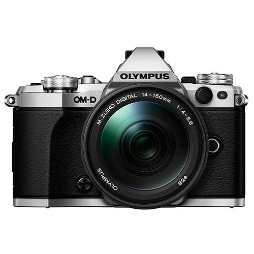 OM-D E-M5 Mark II Compact System Camera in Silver + 14-150mm Lens Product Image (Secondary Image 3)