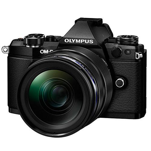 OM-D E-M5 Mark II Compact System Camera in Black + 12-40mm Lens Product Image (Primary)