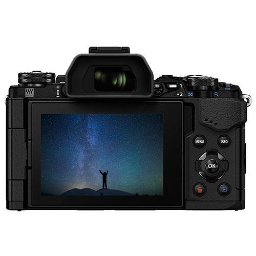 OM-D E-M5 Mark II Compact System Camera in Black + 12-40mm Lens Product Image (Secondary Image 1)