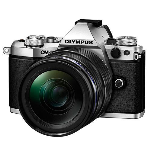OM-D E-M5 Mark II Compact System Camera in Silver + 12-40mm Lens Product Image (Primary)