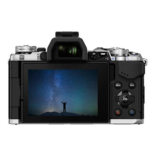 OM-D E-M5 Mark II Compact System Camera in Silver + 12-40mm Lens Product Image (Secondary Image 1)