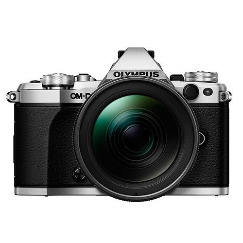 OM-D E-M5 Mark II Compact System Camera in Silver + 12-40mm Lens Product Image (Secondary Image 2)