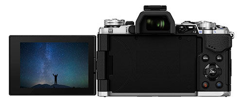 OM-D E-M5 Mark II Compact System Camera in Silver + 12-40mm Lens Product Image (Secondary Image 3)