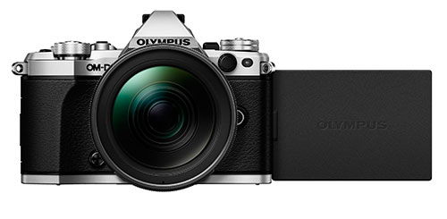 OM-D E-M5 Mark II Compact System Camera in Silver + 12-40mm Lens Product Image (Secondary Image 4)