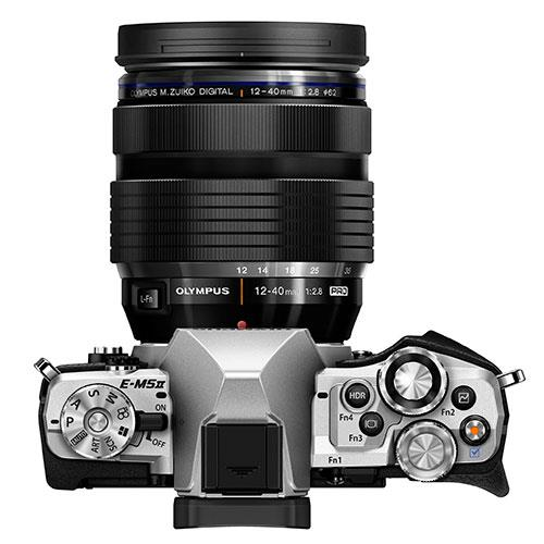 OM-D E-M5 Mark II Compact System Camera in Silver + 12-40mm Lens Product Image (Secondary Image 5)