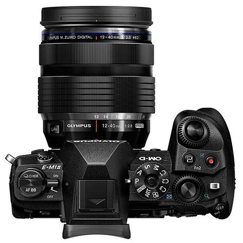 OM-D E-M1 Mark II Mirrorless Camera + EZ-M12-40mm Lens Product Image (Secondary Image 3)
