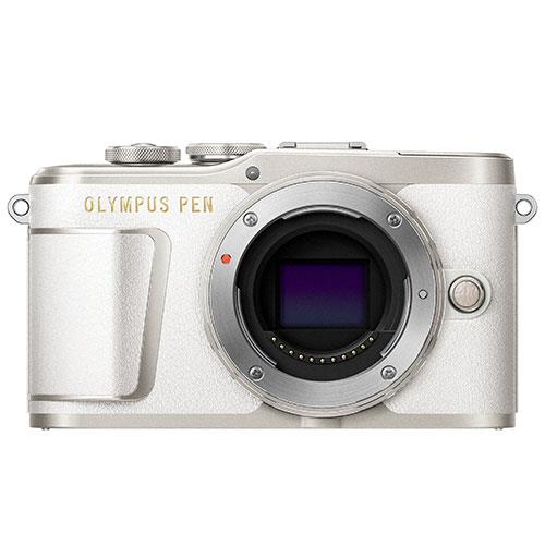 PEN E-PL9 Mirrorless Camera Body in White Product Image (Primary)