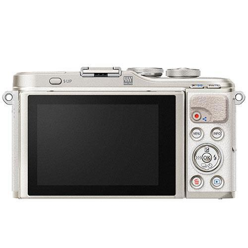 PEN E-PL9 Mirrorless Camera Body in White Product Image (Secondary Image 1)