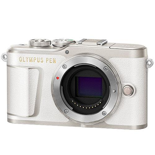 PEN E-PL9 Mirrorless Camera Body in White Product Image (Secondary Image 3)
