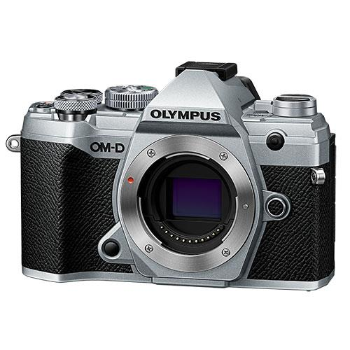 OM-D E-M5 Mark III Mirrorless Camera Body in Silver Product Image (Primary)