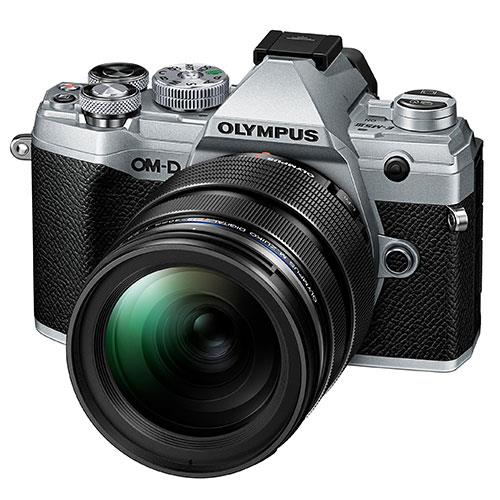 OM-D E-M5 Mark III Mirrorless Camera in Silver with 12-40mm f/2.8 Pro Lens Product Image (Primary)