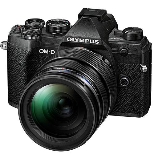 OM-D E-M5 Mark III Mirrorless Camera in Black with 12-40mm f/2.8 Pro Lens Product Image (Primary)