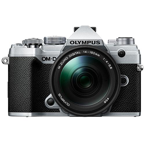 OM-D E-M5 Mark III Mirrorless Camera in Silver with 14-150mm Lens Product Image (Primary)