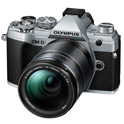 OM-D E-M5 Mark III Mirrorless Camera in Silver with 14-150mm Lens Product Image (Secondary Image 1)