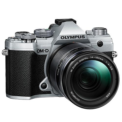 OM-D E-M5 Mark III Mirrorless Camera in Silver with 14-150mm Lens Product Image (Secondary Image 2)