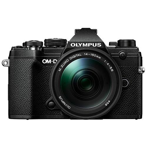 OM-D E-M5 Mark III Mirrorless Camera in Black with 14-150mm Lens Product Image (Primary)