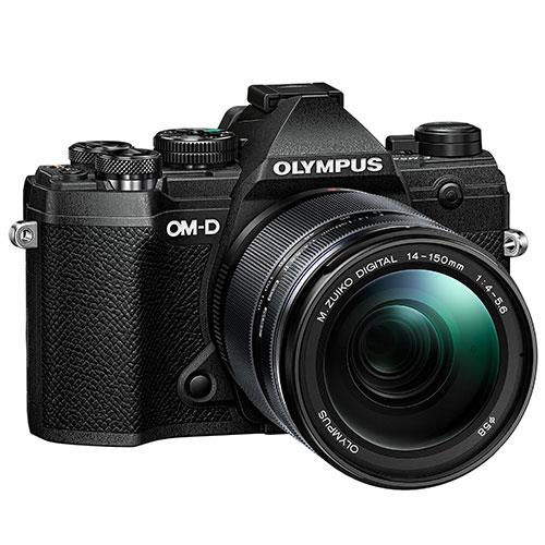 OM-D E-M5 Mark III Mirrorless Camera in Black with 14-150mm Lens Product Image (Secondary Image 1)