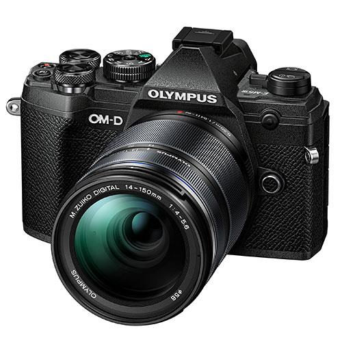 OM-D E-M5 Mark III Mirrorless Camera in Black with 14-150mm Lens Product Image (Secondary Image 2)