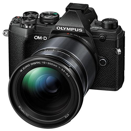 OM-D E-M5 Mark III Mirrorless Camera in Black with 12-200mm Lens Product Image (Primary)