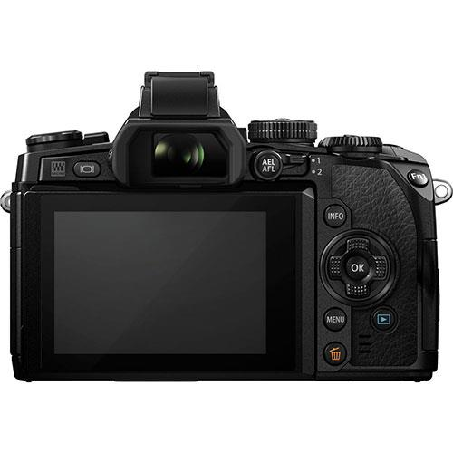 OM-D E-M1 Compact System Camera in Black + 12-40mm Lens - Ex Display Product Image (Secondary Image 1)