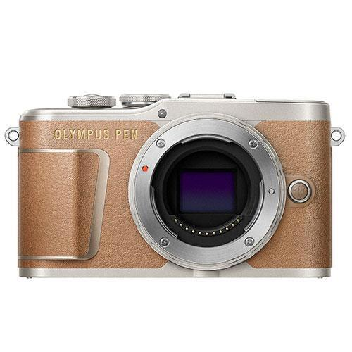 PEN E-PL9 Mirrorless Camera Body in Brown - Ex Display Product Image (Primary)