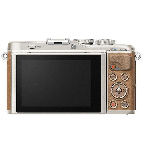 PEN E-PL9 Mirrorless Camera Body in Brown - Ex Display Product Image (Secondary Image 1)