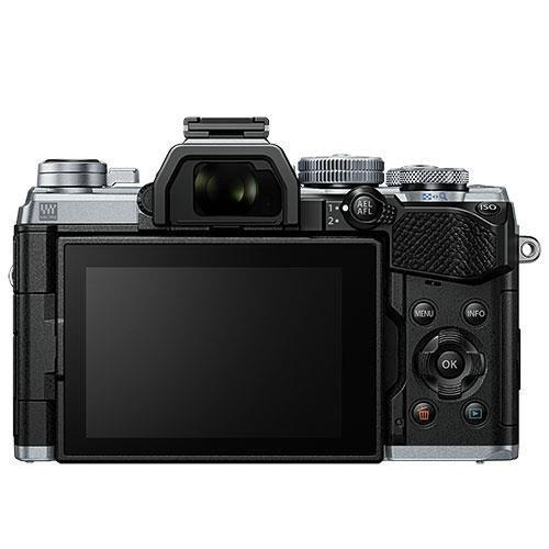 OM-D E-M5 Mark III Mirrorless Camera in Silver with 12-45mm F4 Pro Lens Product Image (Secondary Image 1)