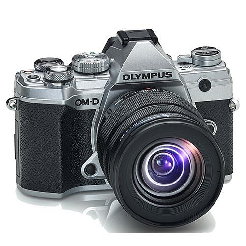 OM-D E-M5 Mark III Mirrorless Camera in Silver with 12-45mm F4 Pro Lens Product Image (Secondary Image 4)