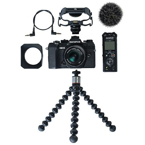 OM-D E-M5 Mark III Mirrorless Camera in Black with 12mm F2 Lens Vlogger Kit Product Image (Secondary Image 6)