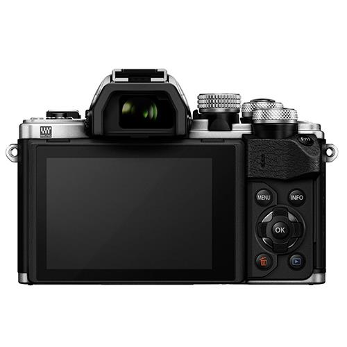 OM-D E-M10 Mark II Compact System Camera in Silver + 14-42 EZ Lens Product Image (Secondary Image 1)