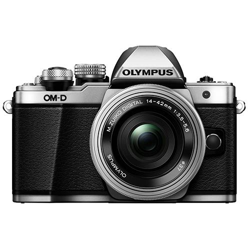 OM-D E-M10 Mark II Compact System Camera in Silver + 14-42 EZ Lens Product Image (Secondary Image 2)