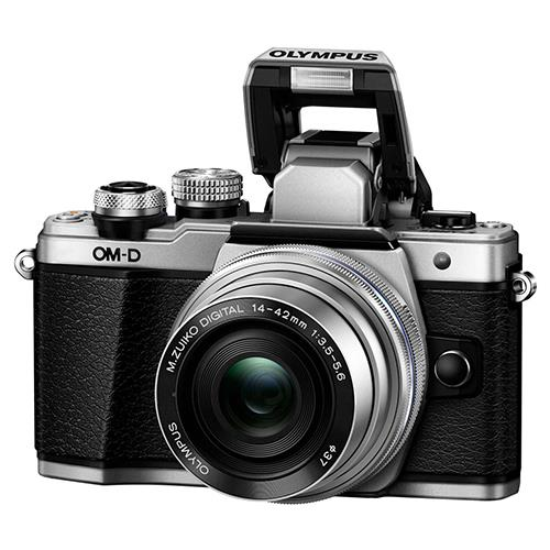 OM-D E-M10 Mark II Compact System Camera in Silver + 14-42 EZ Lens Product Image (Secondary Image 3)
