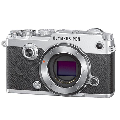 PEN-F Mirrorless Camera Body in Silver Product Image (Secondary Image 1)