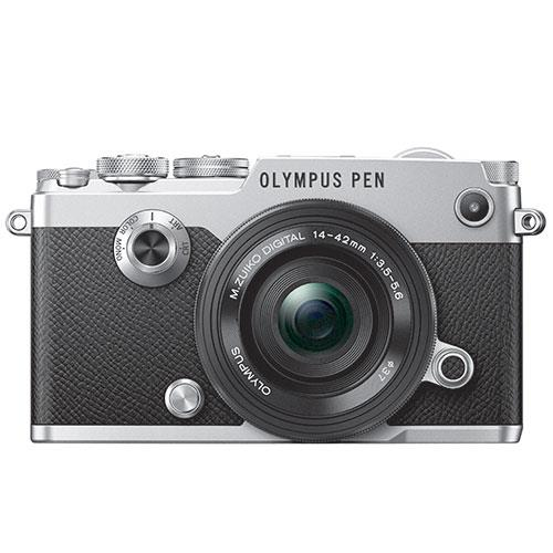 PEN-F Mirrorless Camera in Silver + 14-42mm f/3.5-5.6 Lens   Product Image (Primary)
